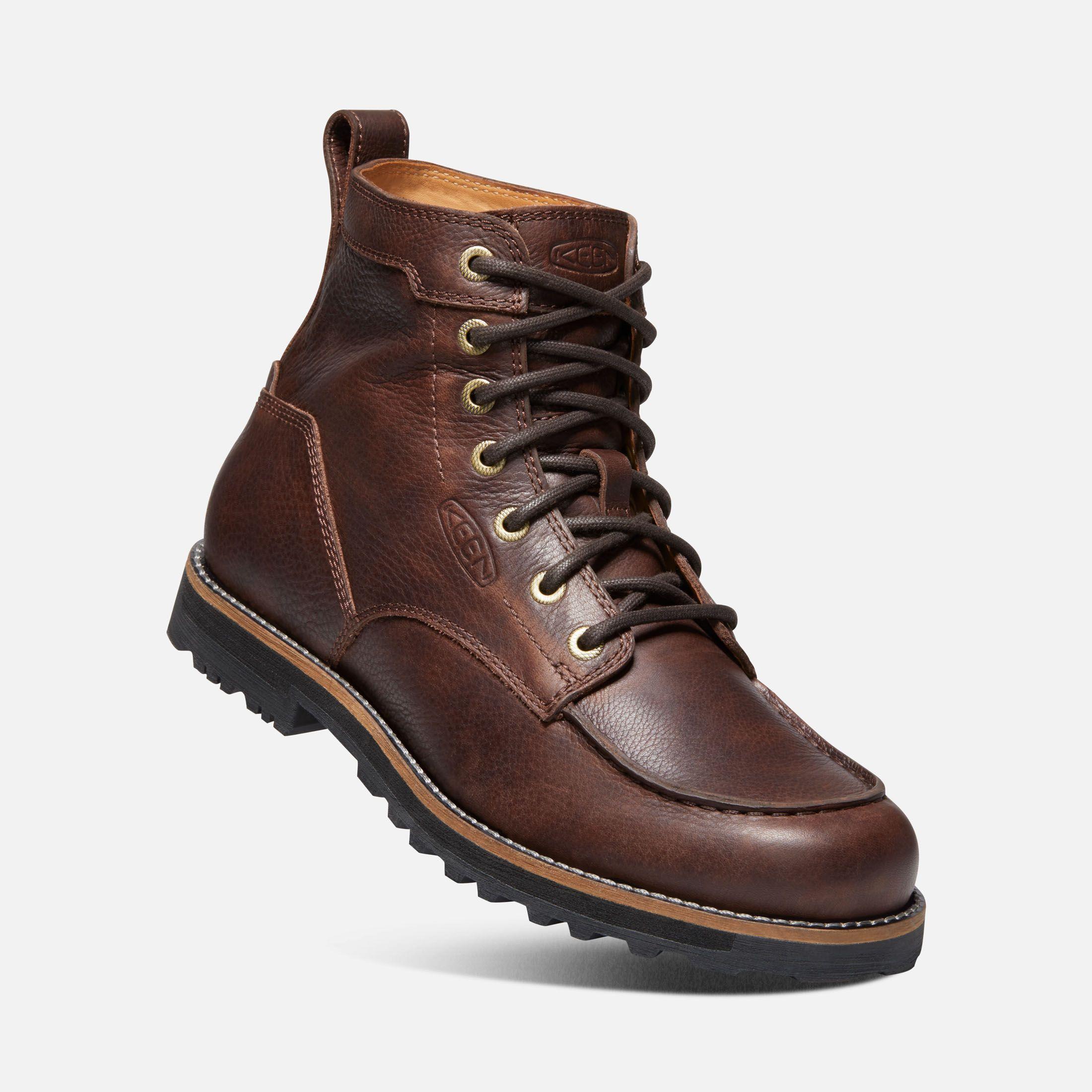 Moc toe boots, Mens boots casual