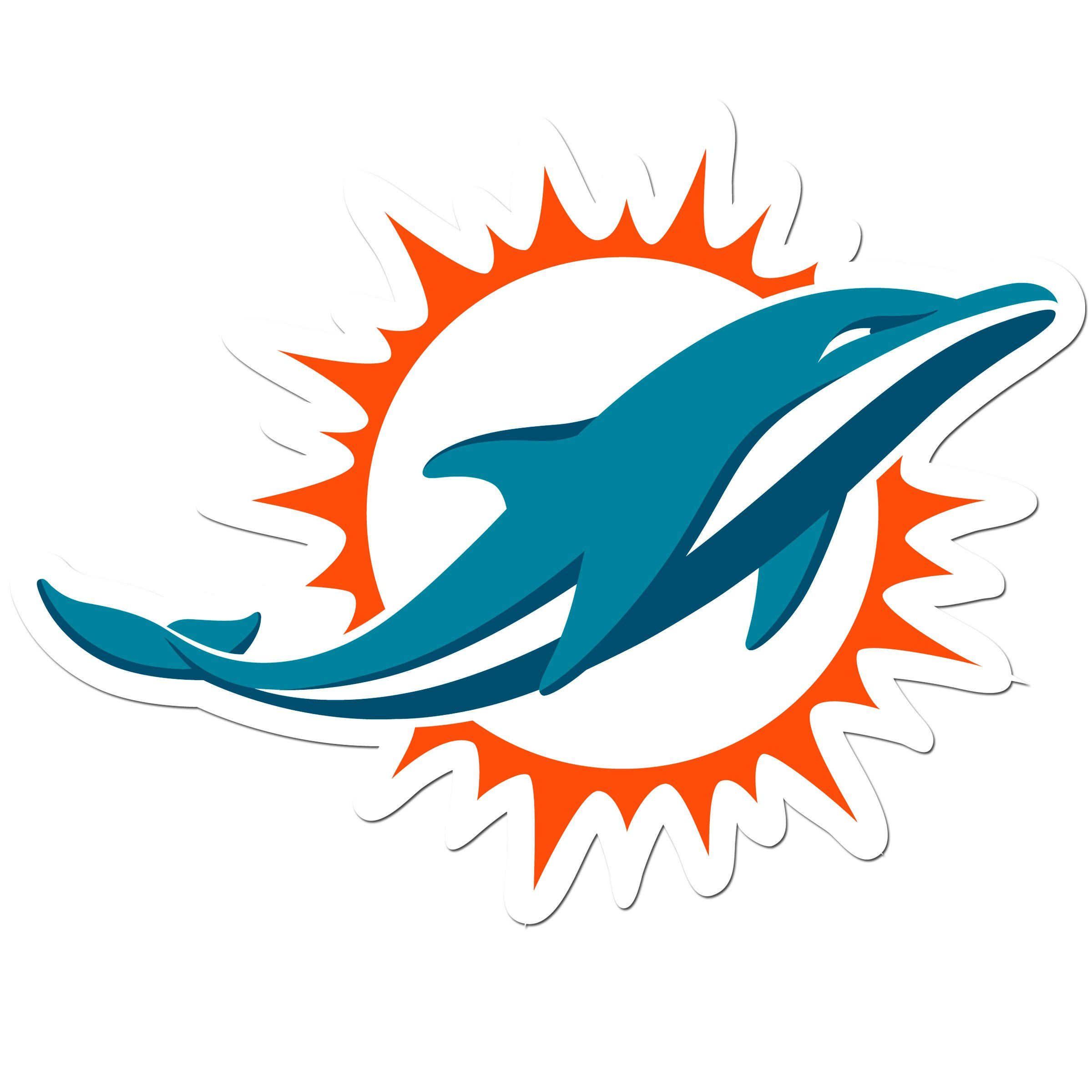 Miami Dolphins 8 Inch Auto Decal Dolphins Logo Miami Dolphins