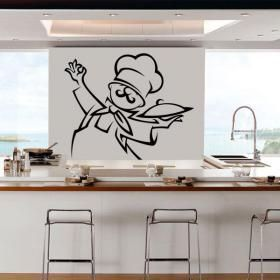 Decorar Paredes Cocina Chef Vinilos Pinterest Decoracion De