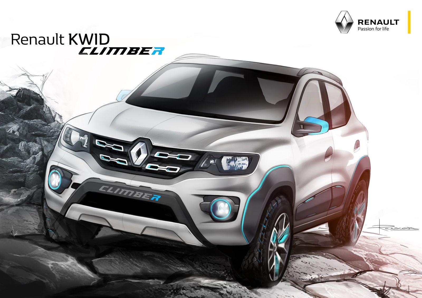 Renault Reveals Kwid Racer And Kwid Climber Studies At Delhi Auto Show Carscoops Renault Car Design Sketch Car
