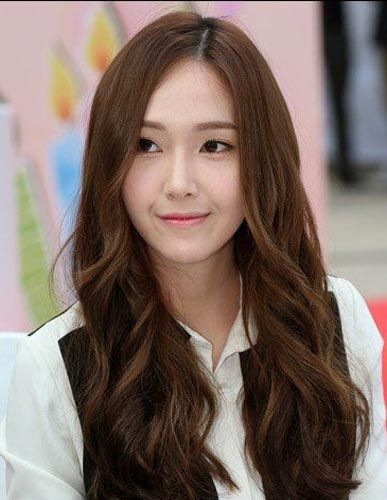 Jessica Jung Long hairstyle brown black color natural  hair style  Jessica jung, Jessica