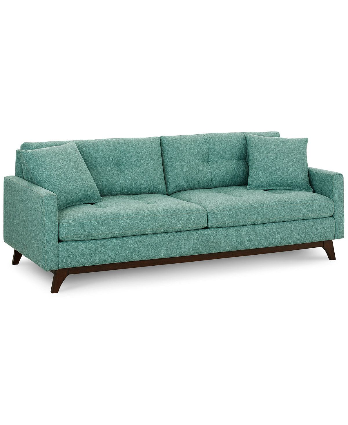 Nari Tufted Back Sofa With 2 Toss Pillows, Created For Macy's