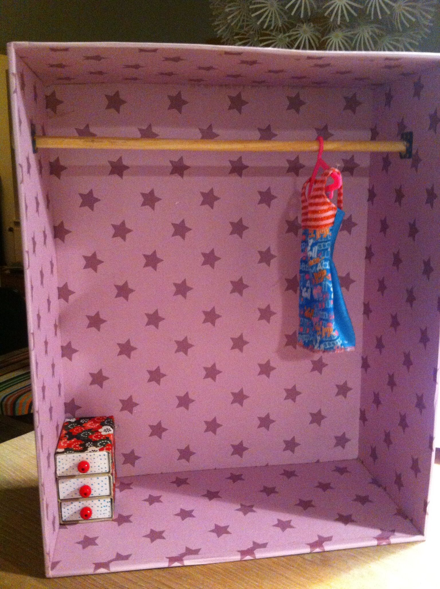 DIY Paper Clip Barbie Clothes Hangers