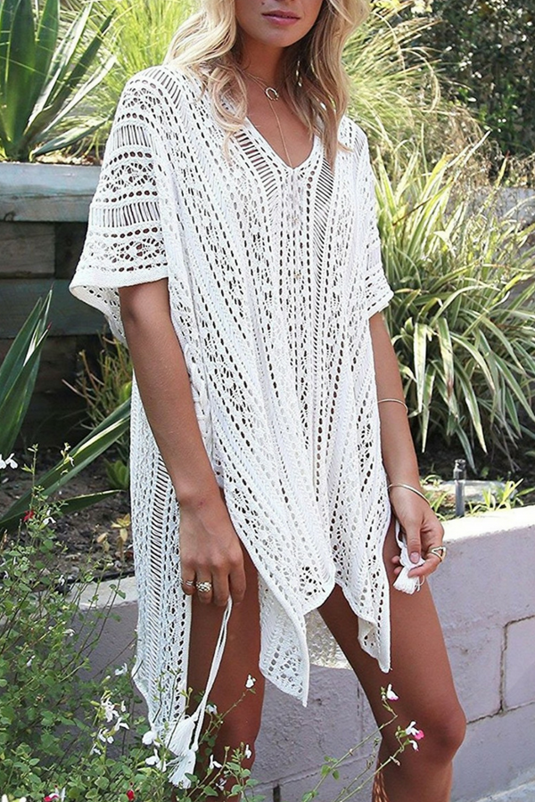 7888b757844be This crochet beach dress cover up is perfect for wearing at the beach