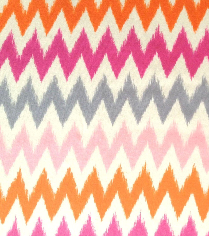 Doodles collection sofia interlock chevron orange cotton