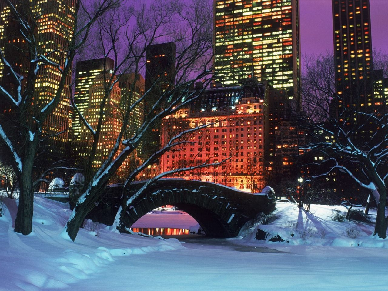 Central Park In Winter Wallpaper Nature Best Wallpapers Central Park