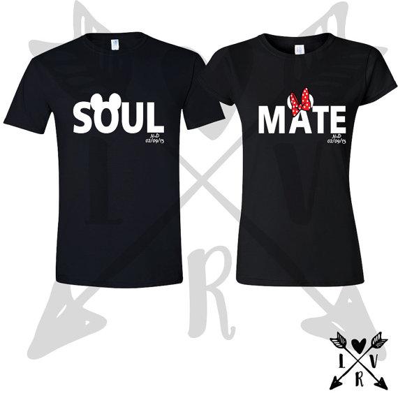 032bf65c252e Mickey Minnie shirts- matching couples shirts- Soulmate shirts-matching  disney shirt-valentines gifts-anniversary gifts-valentines day-shirt
