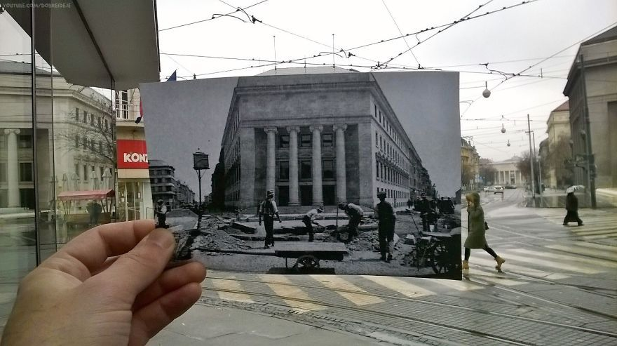 I Combined Historical Croatian Photos With The Places Where They Were Taken Of Zagreb Beauty Around The World Photo