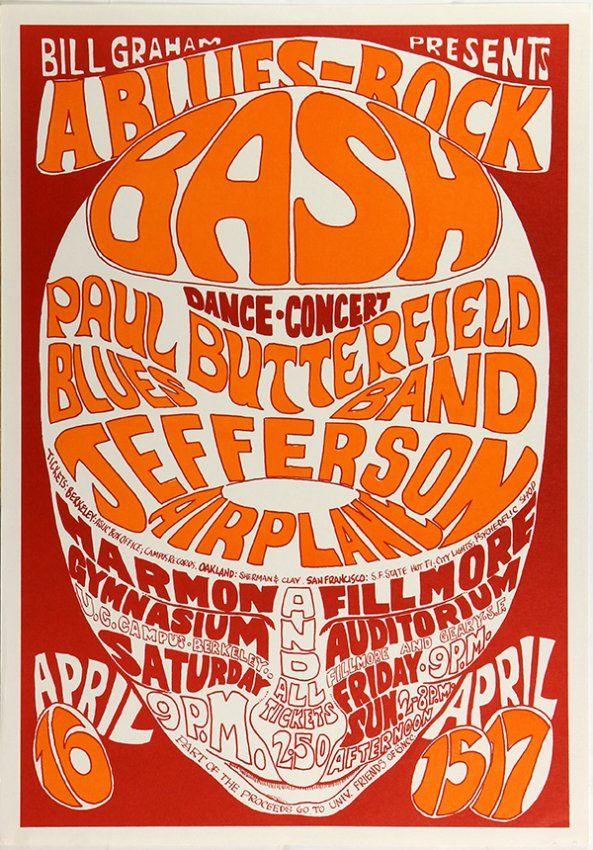 Bill Graham Vintage Rock Posters, BG-3 and BG-7, 1966