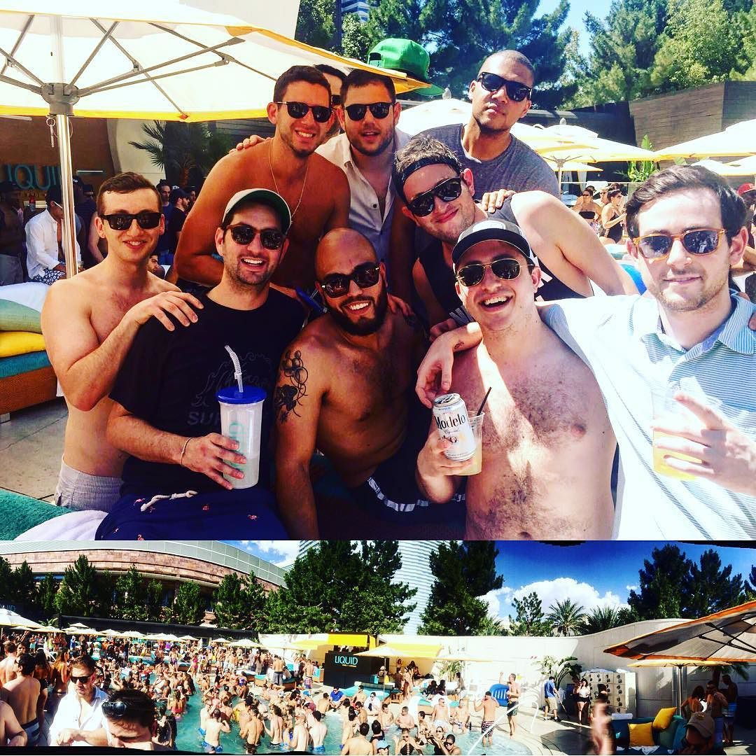 Just a little pool party for the #bachelor #vegas #aria #liquid #summer #pool