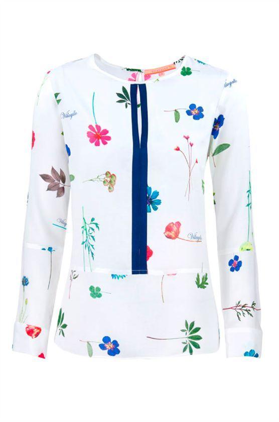 e6e4d35f33c36 Vilagallo blusa blanca estampado floral. Nueva colección Primavera Verano  moda mujer.