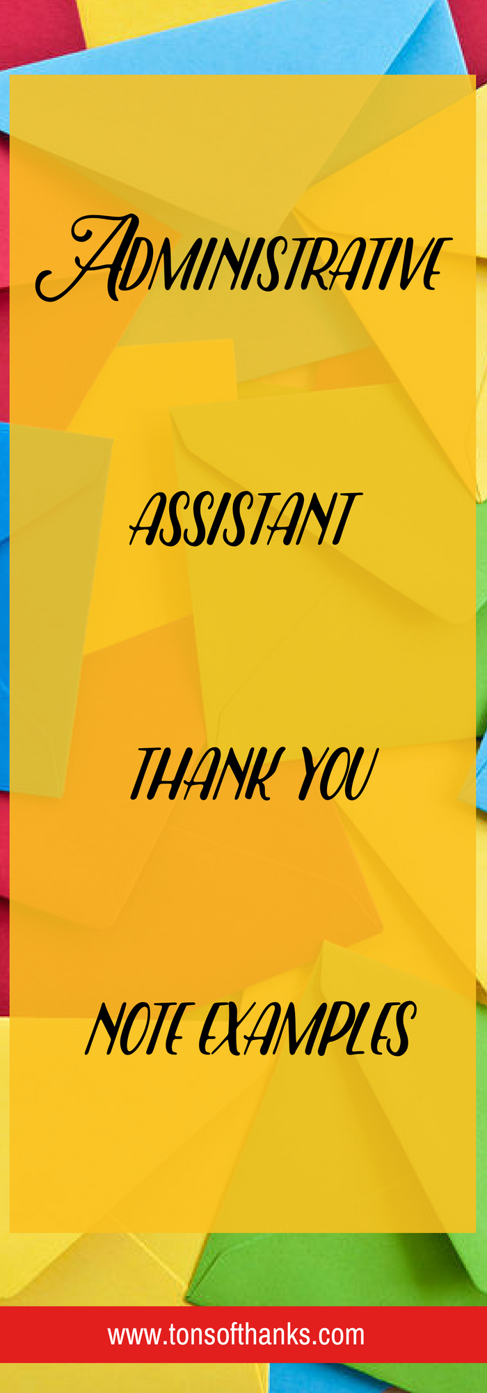 Example thank you notes for an administrative assistant | Note