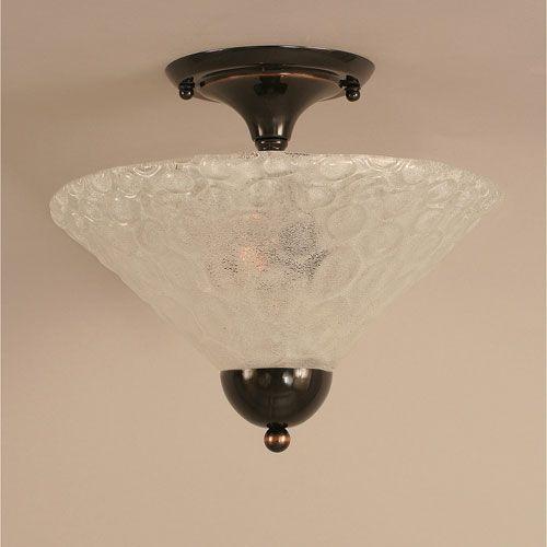 Toltec Lighting Black Copper Semi Flush With Italian Bubble Glass 120 Bc 441 Toltec Lighting Bubble Glass Lighting