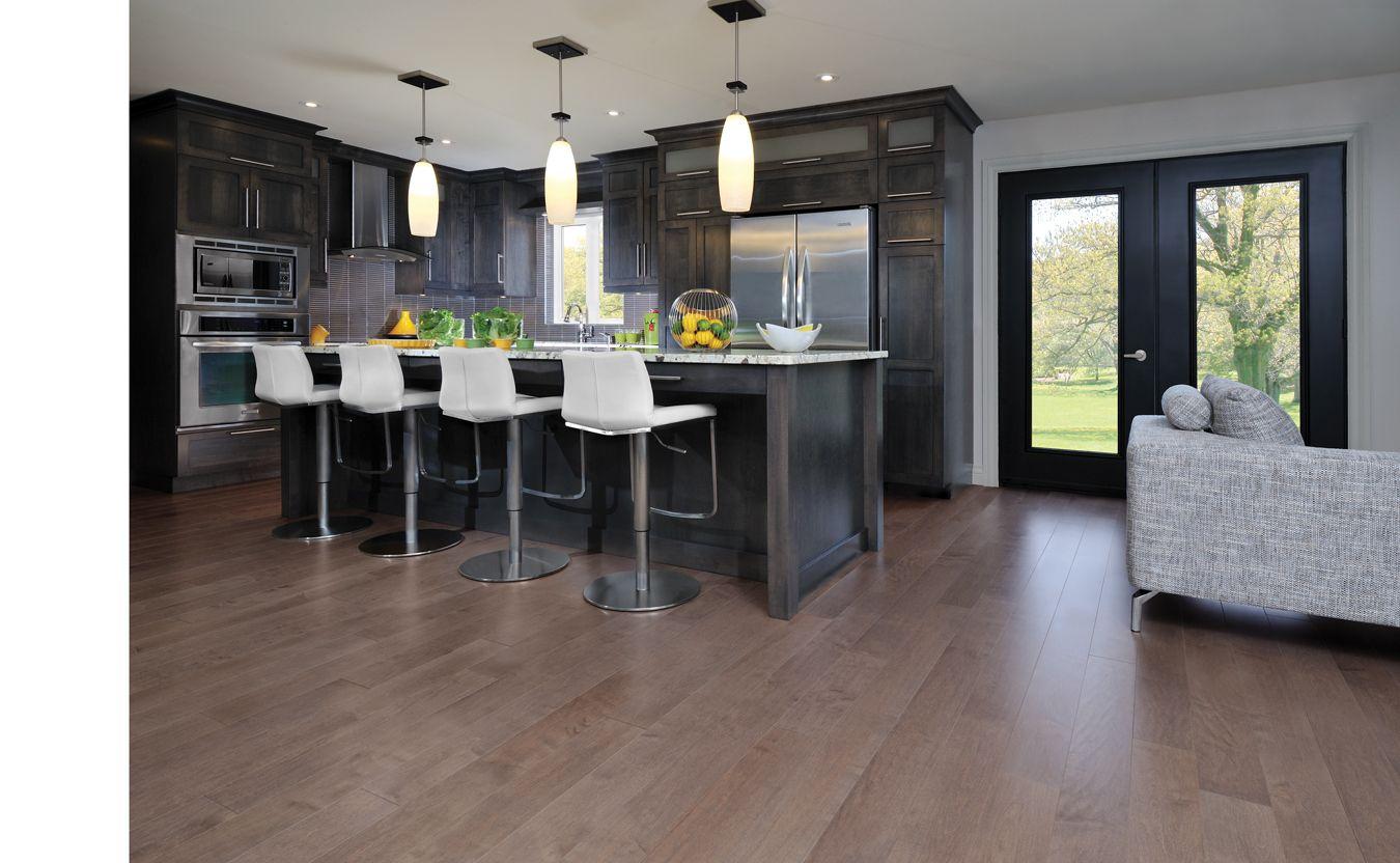 Best Maple Greystone Mirage Hardwood Kitchen Design 640 x 480