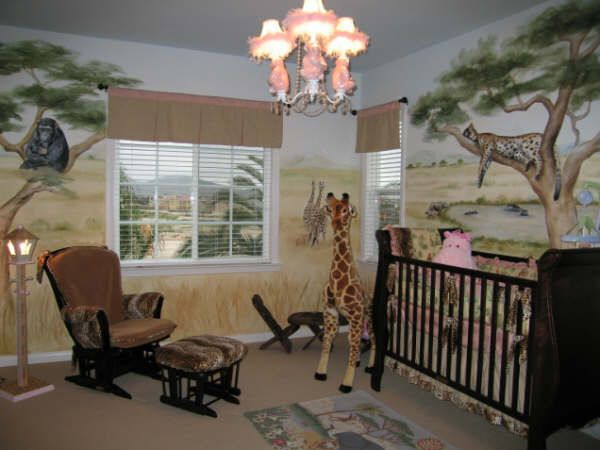 Safari nursery cute baby stuff pinterest safari for Jungle theme kids room