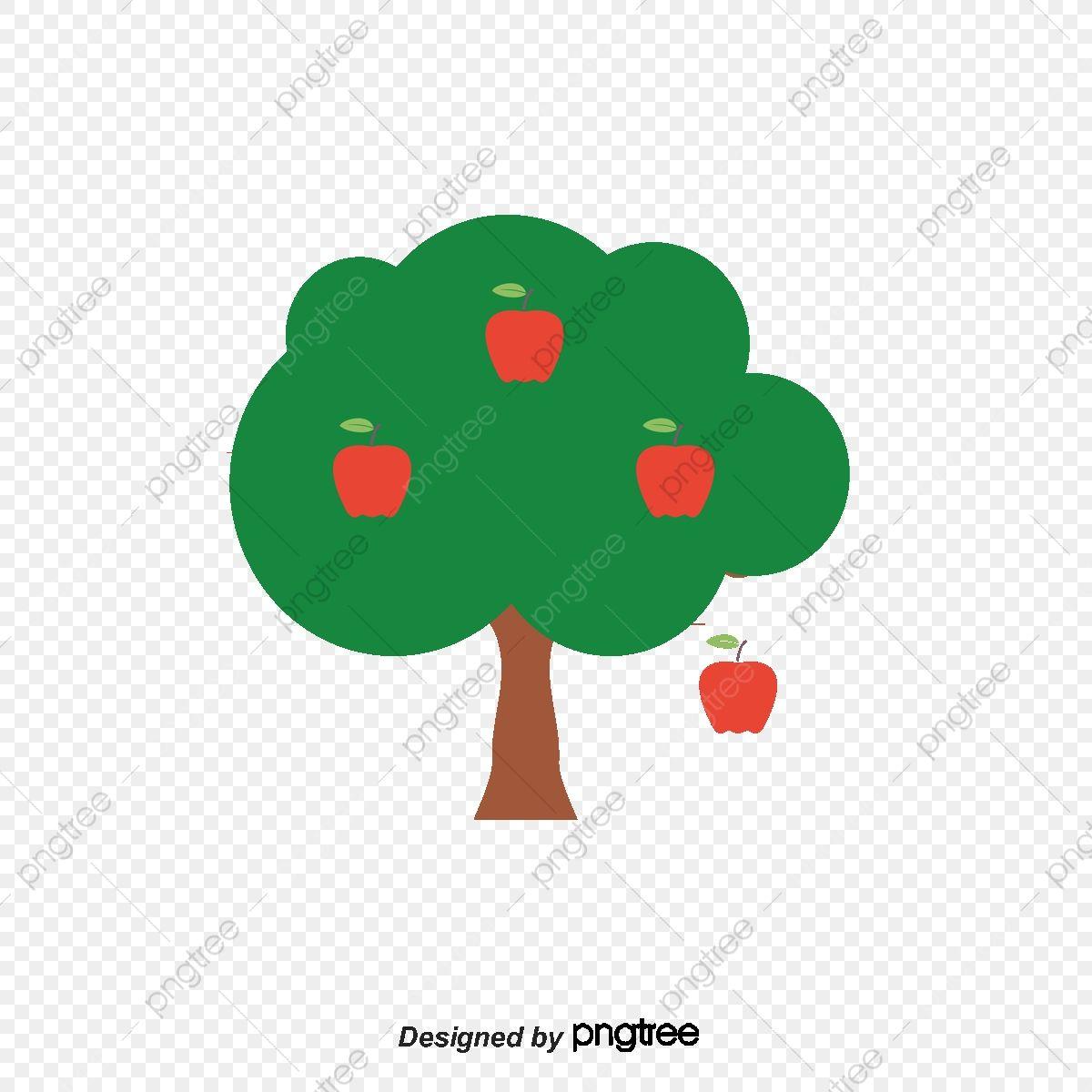 شجرة التفاح مرسومة باليد شجرة التفاح المرسومة ناقلات التفاح ناقلات شجرة Png وملف Psd للتحميل مجانا Hand Painted Apple Tree Apple