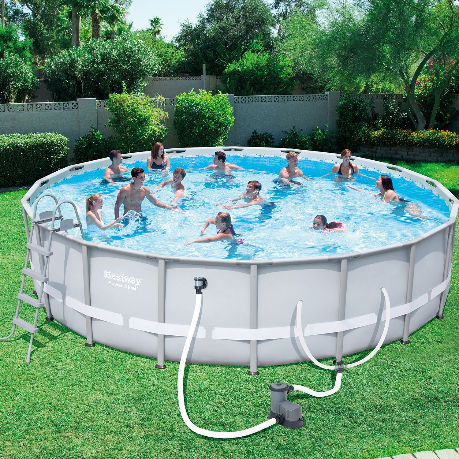 Bestway Steel Pro 18-Foot x 48-Inch Frame Pool Set | Pinterest