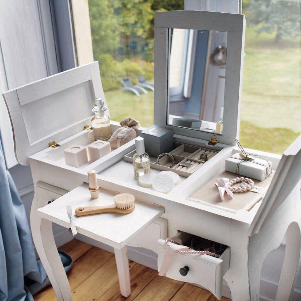 Tocador Con Compartimentos Ocultos Ideas Para Rec Maras  ~ Tocadores De Maquillaje Modernos