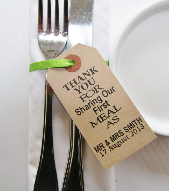 60 Rustic Wedding Napkin Ties Table Decor Thank You For Sharing Our First Meal Unique Favors Weddings Shabby Chic