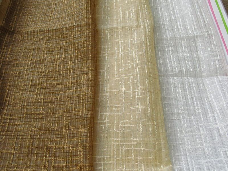 Textured Sheer Curtains In Brown Cream White Drapes