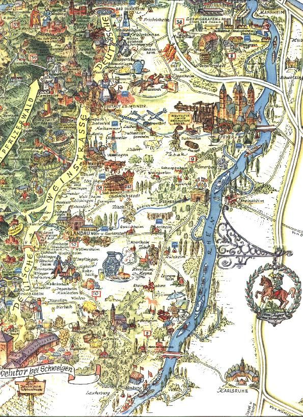 Tourist Map Of Germany.Pin By Lisa Bell On Travel Germany Castles Rhineland Palatinate