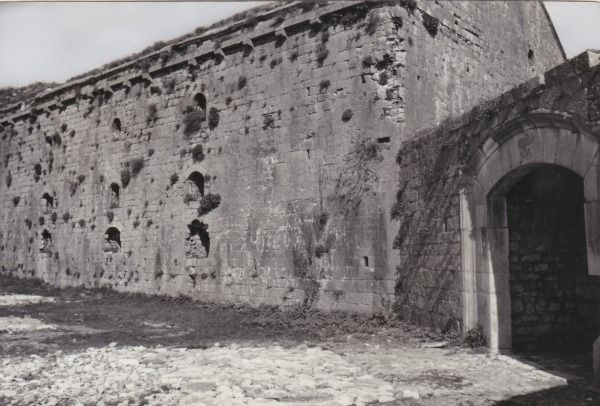 The venetian church inside the perimeter of the Castle of Scutari, 1940.