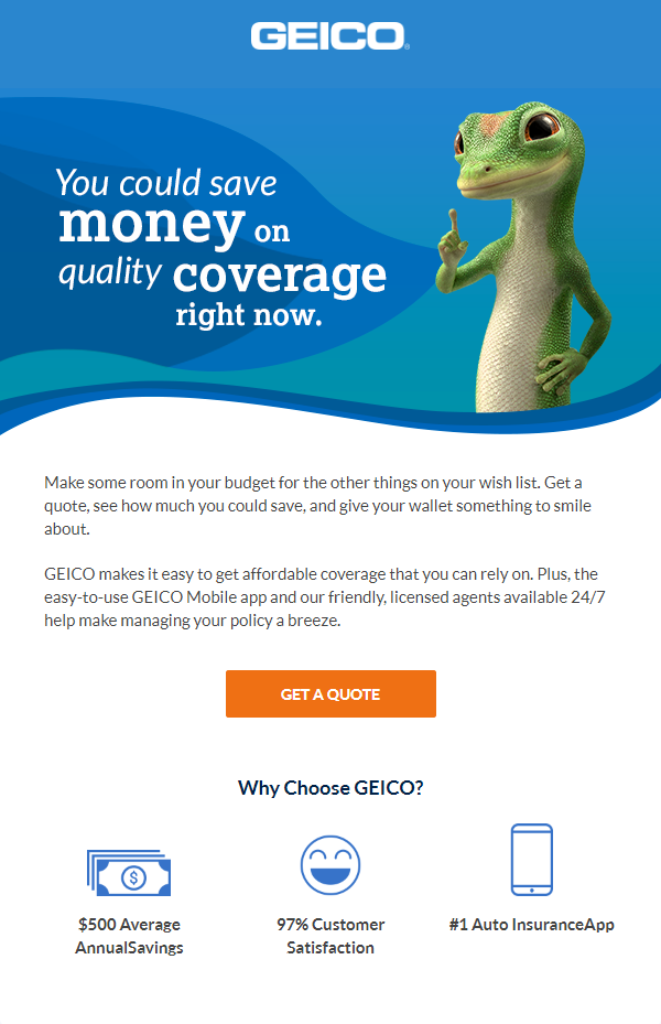 Great Absolutely Free Geico lizard, auto insurance ad, to