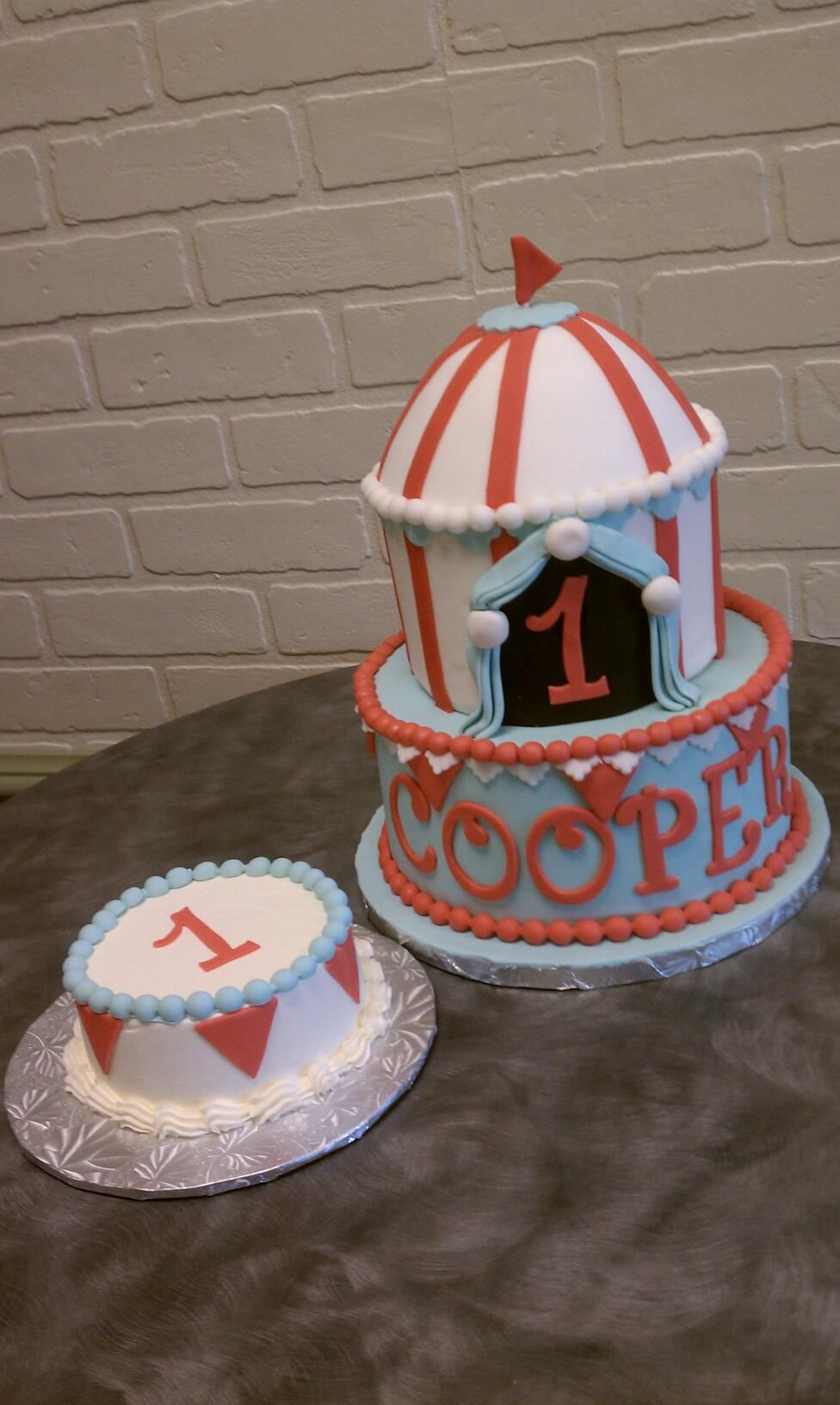 Coopers Birthday Cake Circus Themed Buttercream Bakehouse In Greenville SC