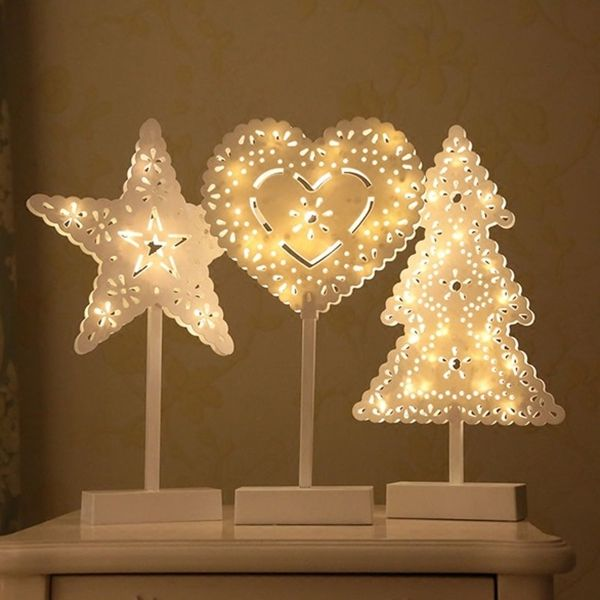 Battery powered star christmas tree heart led night light table lamp battery powered star christmas tree heart led night light table lamp home decoration merry christmas pinterest decoration decorative lights and aloadofball Images