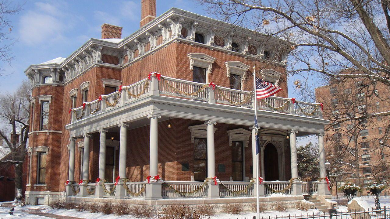 Benjamin Harrison Home   Historic homes, Victorian homes ...  Benjamin Harrison House