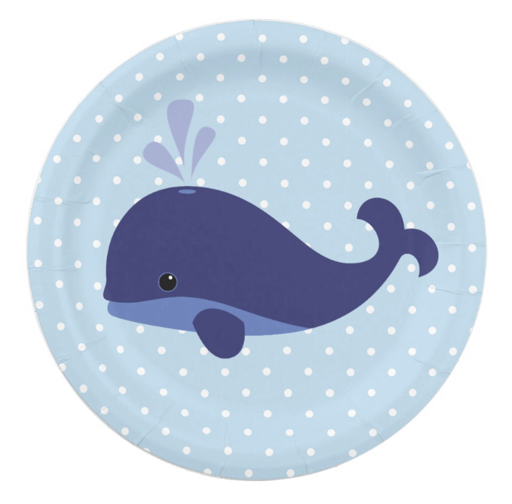 Shop Blue Whale Baby Shower Paper Plates created by CardinalCreations.  sc 1 st  Pinterest & Blue whale plate | Blue whale items | Pinterest