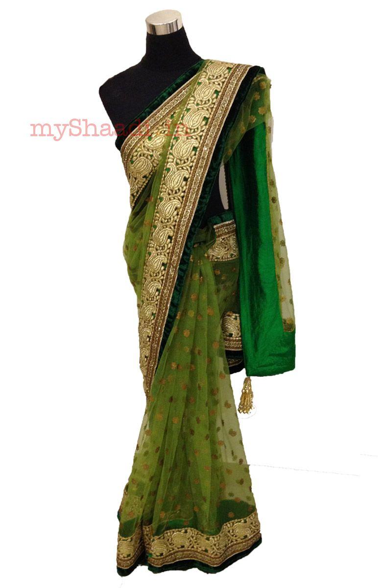 Sari wedding dress  myShaadi ue Indian Bridal Wear by House of   LES GUSTAN SON