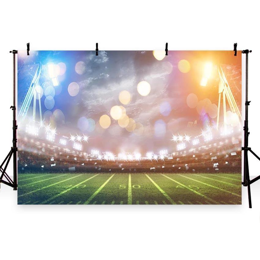 Sports Football Field Bokeh Lights Backdrop For Photo Studio G 259 In 2020 Baseball Backgrounds Light Backdrop Backdrops