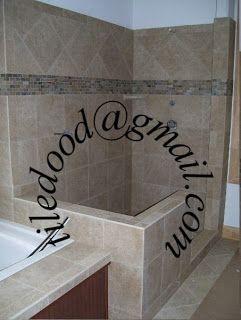 Tile The World!: Custom Porcelain Tile Shower   Lake Hartwell South Carolina