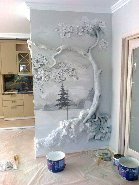 Plaster Wall Art Unique