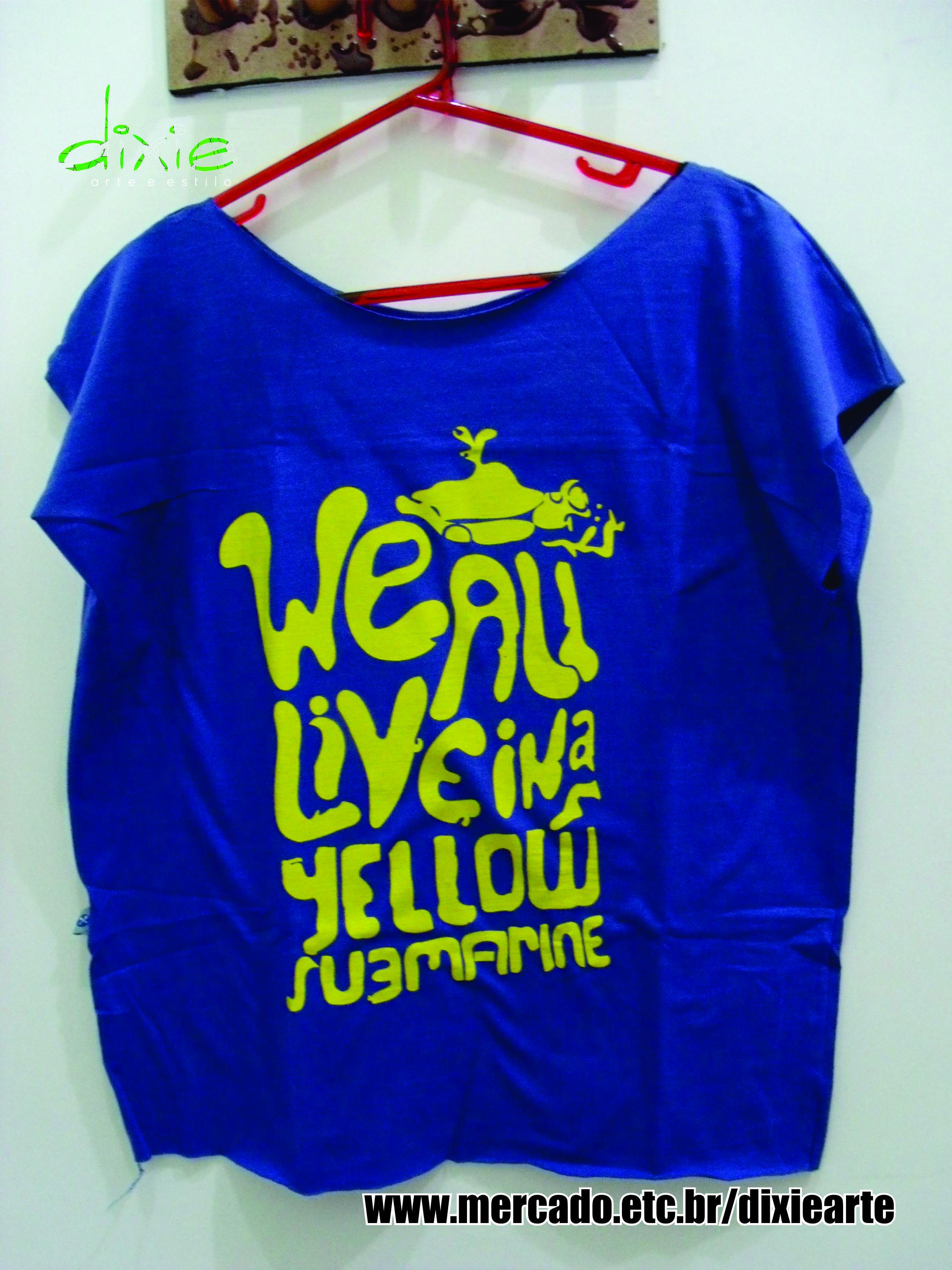 1fda494910 Camisetão Yellow Submarine www.elo7.com.br dixiearte