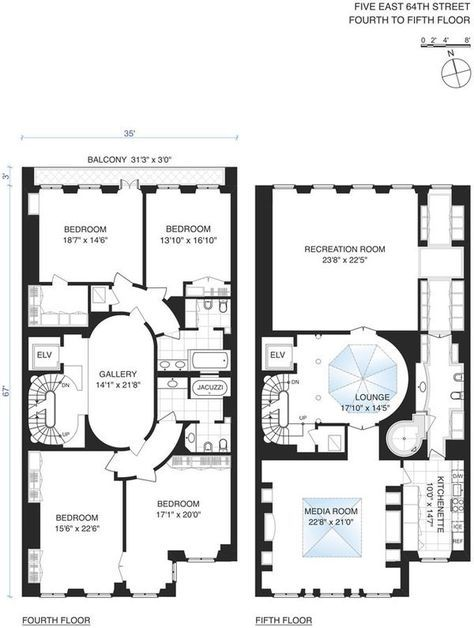 Versace S Former Ues Mansion Is Now Renting For Half Its Original Ask Mansion Floor Plan Luxury House Plans Mansion Prices