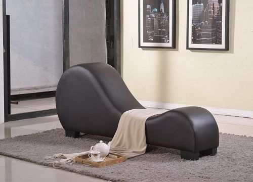 Yoga Chair Brown Back Therapy Stretching Lounger Furniture Relaxation Stretch Uspridefurniture