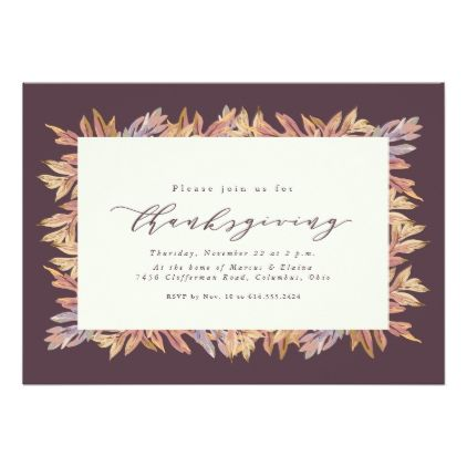 Thanksgiving Invitation  Thanksgiving Invitations Holiday Cyo Diy