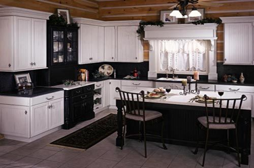 Black And White Country Kitchen Designs Photo  1  Madlonsbigbear Pleasing Black And White Kitchens Designs 2018