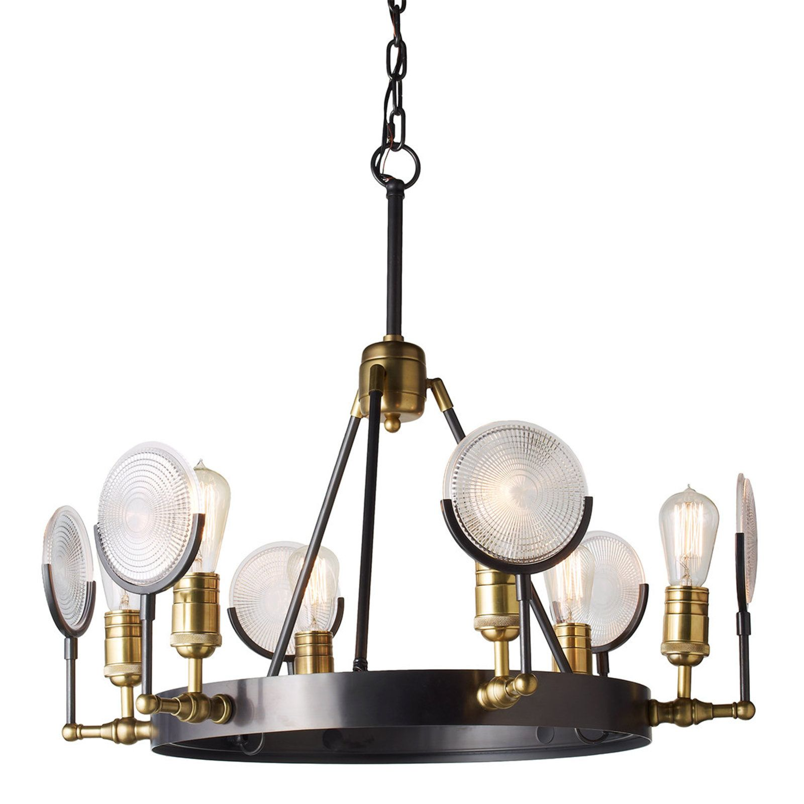Restoration Style Reflector Glass Chandelier Small With Images Glass Chandelier Chandelier Chandelier Table Lamp