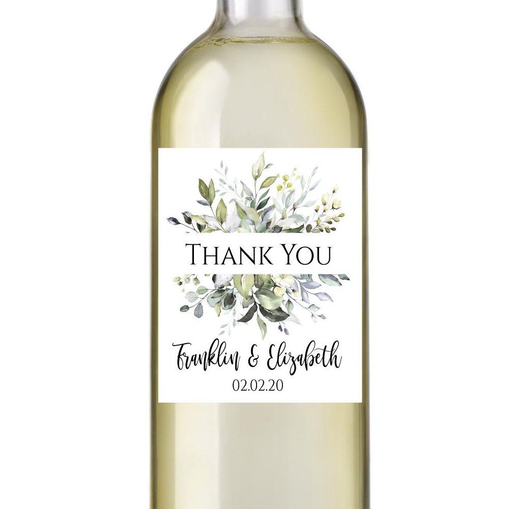 yv49 Wine bottle label Instant Download Beach Wedding Printable Greenery Leaves,Bridal Wedding Wine Bottle Label Wine Label Template