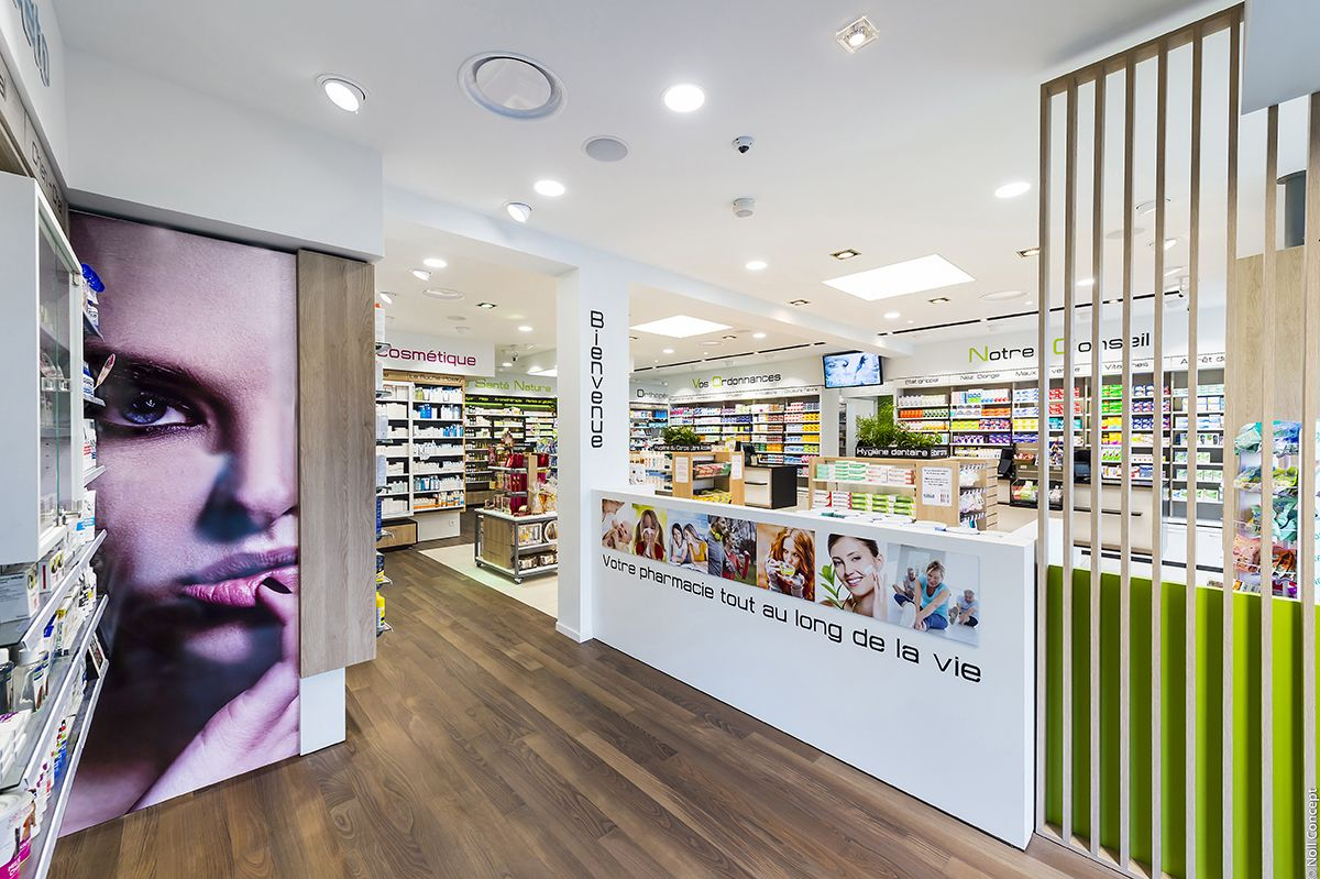 Pharmacie Abboud Riedisheim Haut Rhin Visuel Principal Pharmacie Agencement Pharmacie Construction
