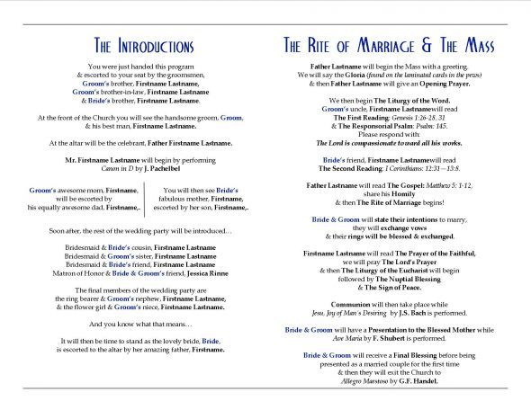 Catholic Wedding Programs With M Ceremony Diy Program Wolfpack Bee