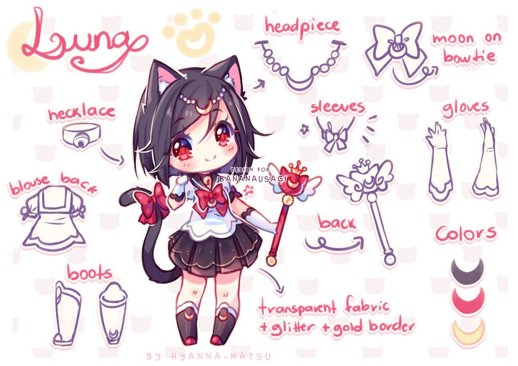 Commission I Will Nyan You By Hyanna Natsu Deviantart Com On Deviantart Anime Character Design Anime Chibi Chibi Drawings