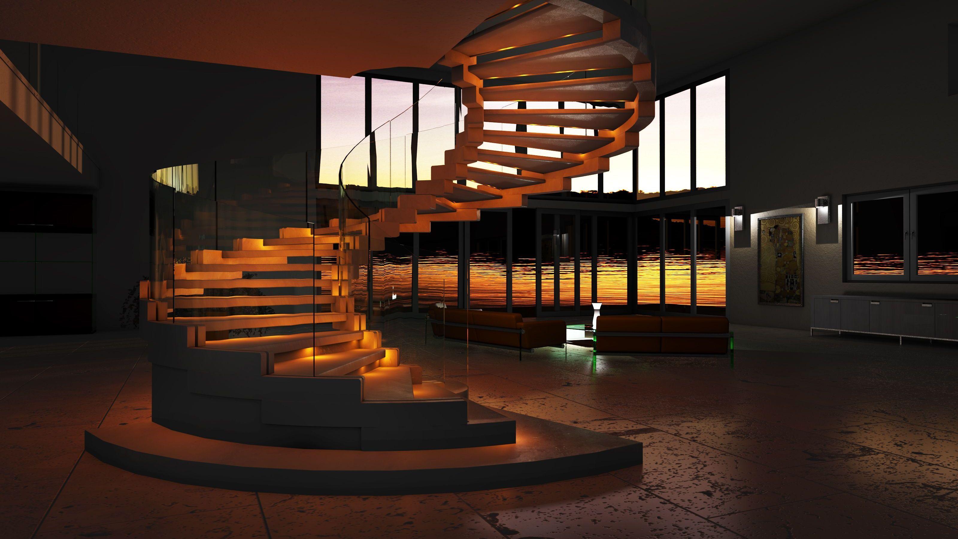 Best Modern Helical Staircase Design Www Sillertreppen Com 400 x 300