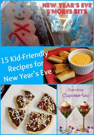 15 Kid Friendly Recipes Appetizers And Treats For New Year S Eve Kid Friendly Meals Fun Snacks For Kids New Years Eve Snacks
