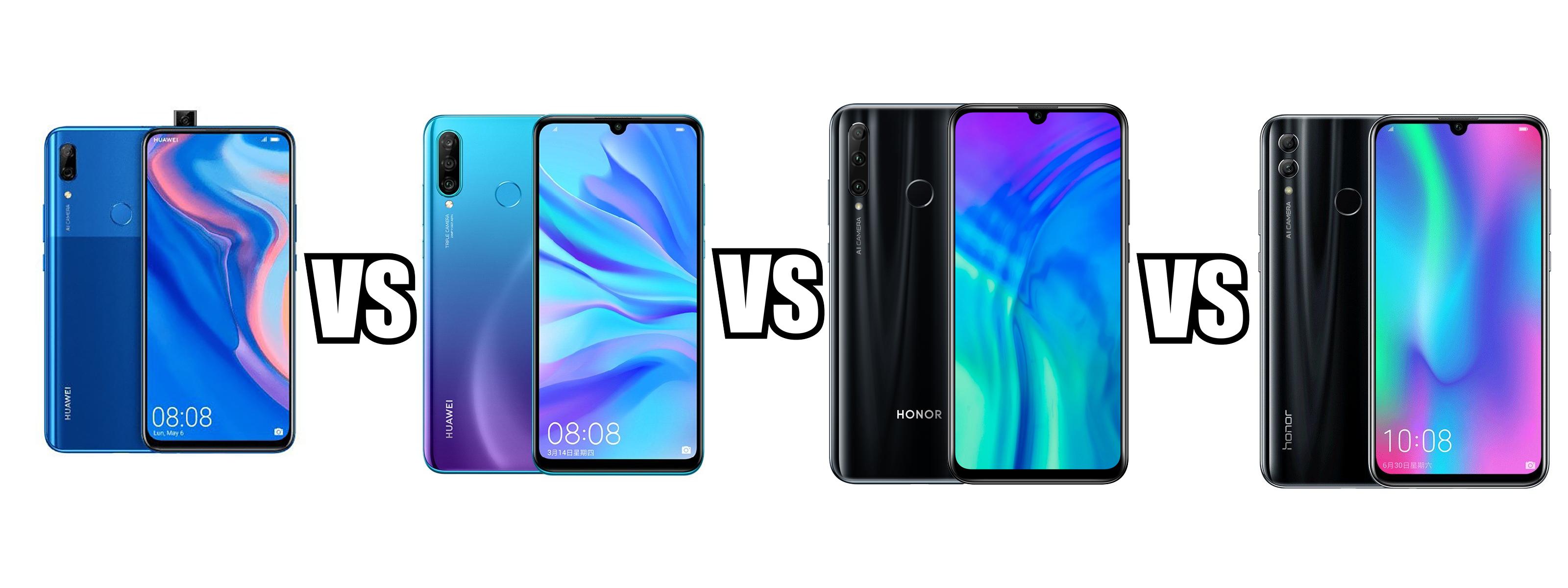 Huawei P Smart Z Vs P30 Lite Vs Honor 20 Lite Vs Huawei P Smart 2019 Vs Honor 10 Lite Point And Shoot Camera Huawei Android 9