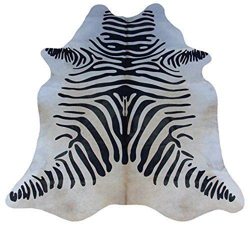cow hide rug zebra alfombra piel de vaca kuhfell teppich. Black Bedroom Furniture Sets. Home Design Ideas