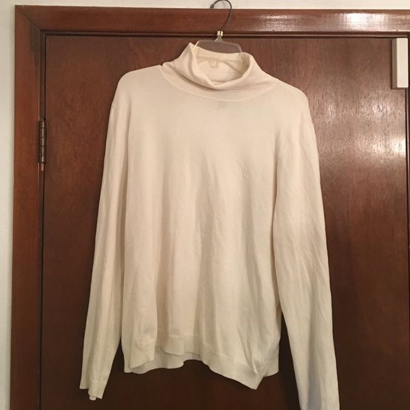 JUST IN!! Ralph Lauren Turtle Neck Sweater Cream colored pullover ...